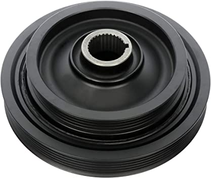 OCPTY Harmonic Balancer Crankshaft Belt Drive Pulley Fits 97-99 01-03 Acura CL01-02 Acura MDX99-03 Acura TL98-02 Honda Accord99-04 Honda Odyssey03-04 Honda Pilot1968-2015