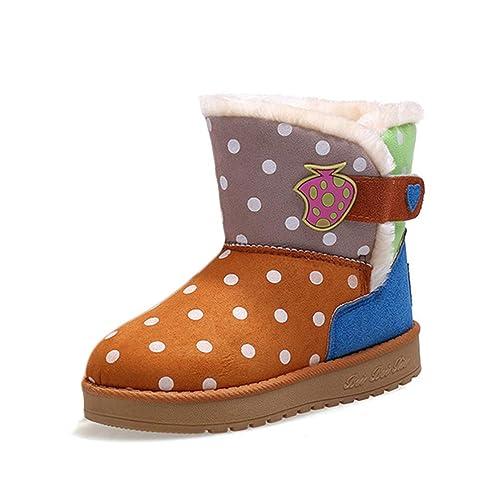 Botas de Nieve para niña Calzado de Felpa Gruesa de Invierno con Velcro Botas Cortas Lindas para niñas Botines para Exterior: Amazon.es: Zapatos y ...