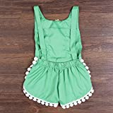 Newborn Baby Girls Ethnic Style Sleeveless Tassels Backless Floral Romper