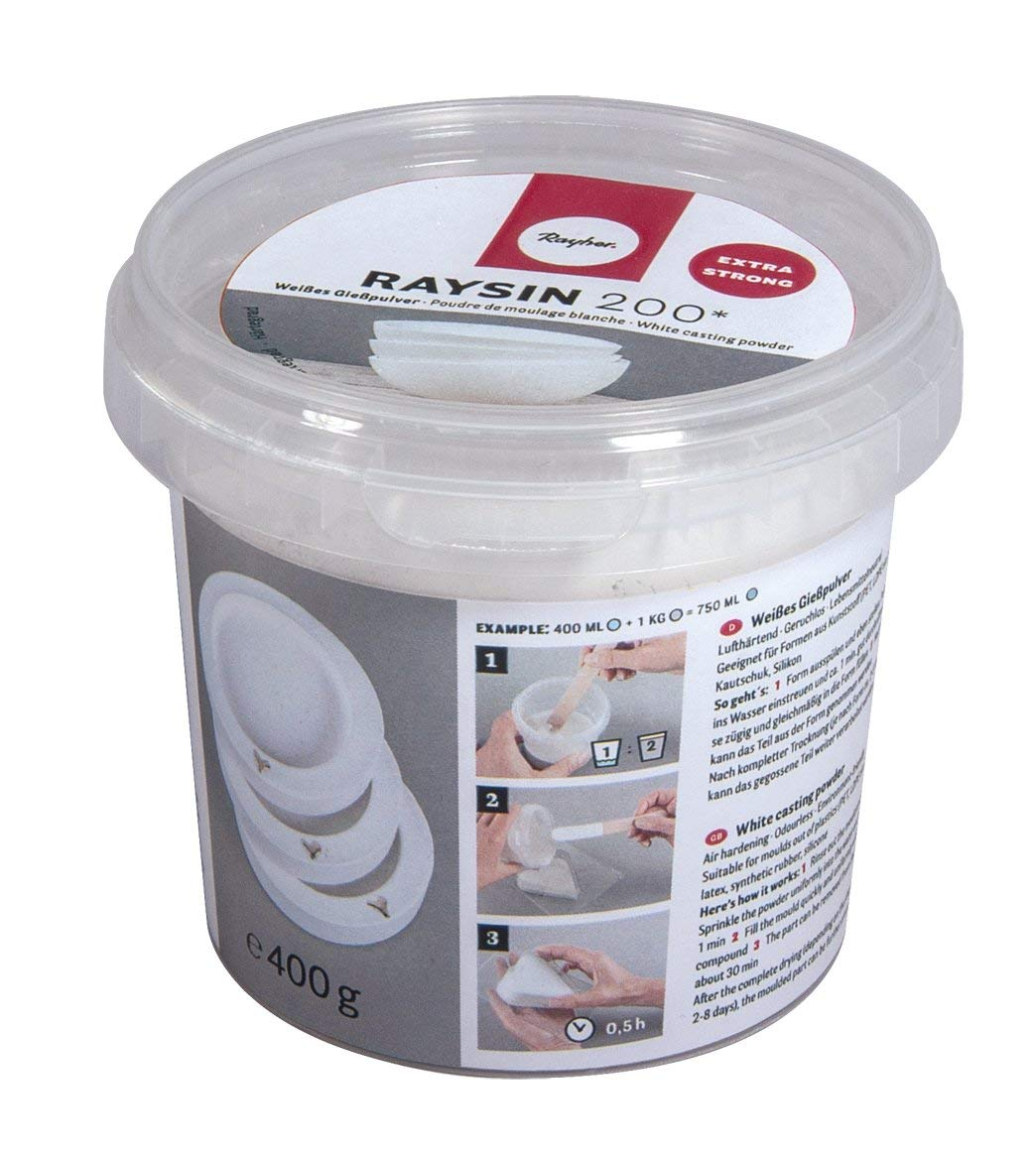 Blanc 9,5/x 9,5/x 8,6/cm 6/unit/és de Rayher Hobby Poudre /à mouler raysin 200