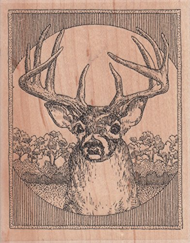 Deer Wood Mounted Rubber Stamp (G1975)