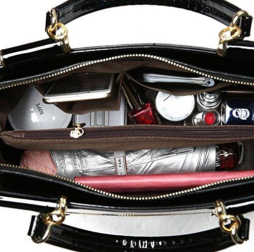 1e7606aed9602 OUMIZHI® Frauen Beutel Sequin Ketten Luxus Leder Handtasche Tasche Burgund   Amazon.de  Koffer