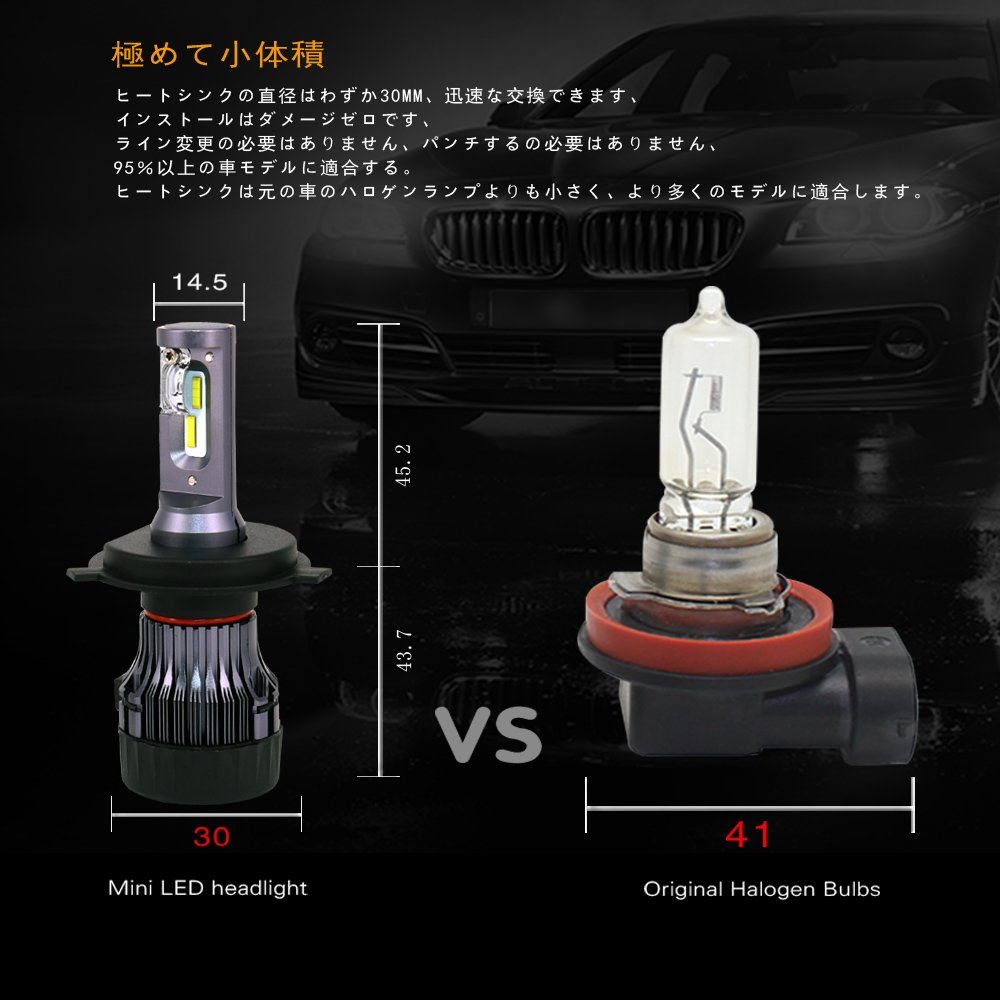 Car Lights Able Racbox Turbine Car Led Headlight Bulbs With Csp Chips H4 Hi Lo Beam H1 H7 H11 9005 9006 Hb3 Hb4 Light White 6000k Led Auto Lamp To Have A Unique National Style Automobiles & Motorcycles