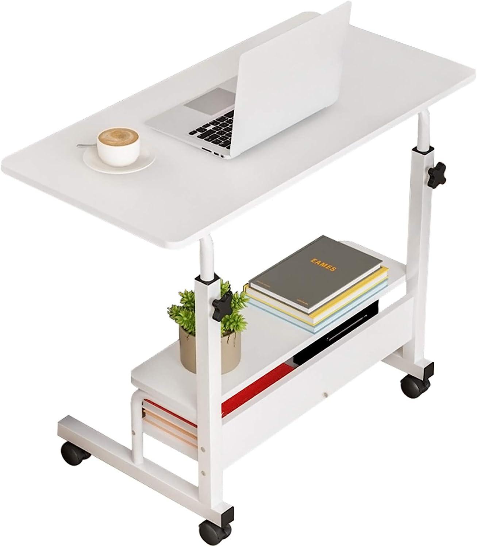 Computer Desk Home Office Desks, Adjustable Laptop Desk for Small Spaces, Portable Work Writing Study Desk Table, Modern Pc Gaming Desk with Storage for Bedroom, Desktop Size 31.5x15.7 inch