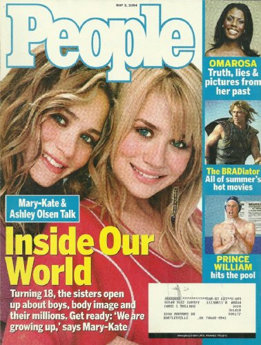 Mary-Kate & Ashley Olsen, Omarosa Manigault, Brad Pitt, Prince William - May 3, 2004 People Magazine