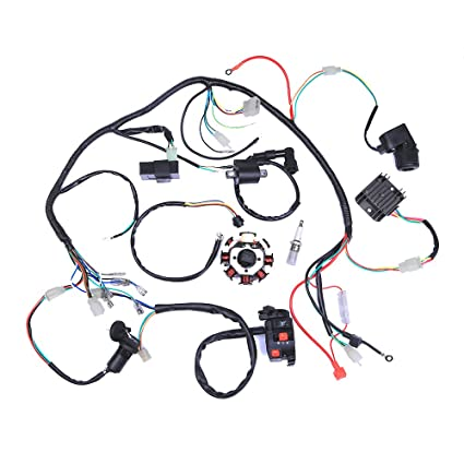 amazon com complete electrics atv quad 200 250cc wiring harness rh amazon com