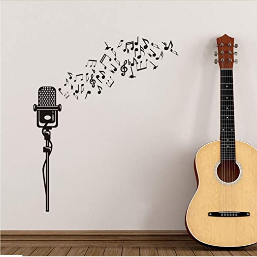 jecswolz Creativo Diseño Moderno DIY Notas Musicales Patrón De ...