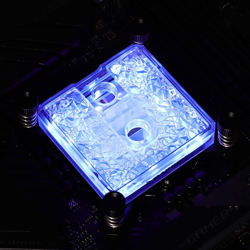 Barrow 5V LRC 2.0 RGB Acrylic Microwaterway CPU Block Cooler for Intel 115X / X99/ X299 / AMD (AMD Block)