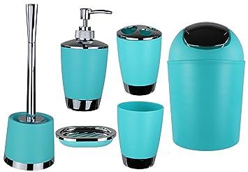 Jeu de 6 accessoires de salle de bain Dont distributeur de savon