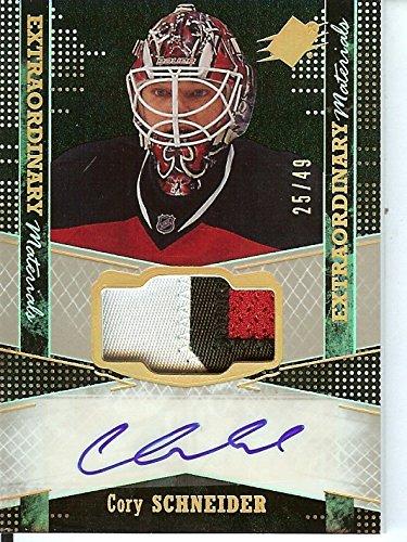 2016 Spx Auto - Hockey NHL 2016-17 SPx Blue Autographs #26 Cory Schneider Auto 27/49 NJ Devils