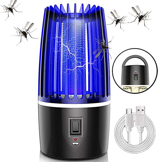 Crzdeal Asesino de Mosquitos Inteligente UV L/ámpara Antimosquitos