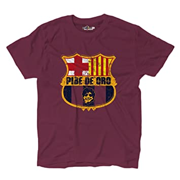 KiarenzaFD Camiseta Camiseta fútbol Vita de Strada del Pibe de Oro Barcelona Grunge 1: Amazon.es: Deportes y aire libre