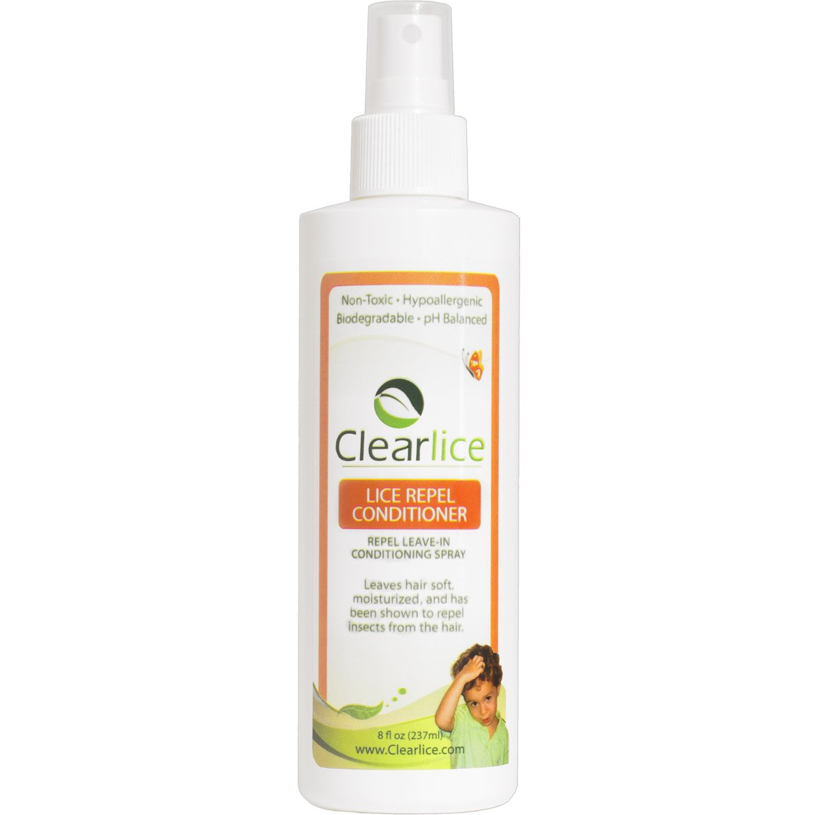 CLEARLICE REPEL & PREVENTION CONDITIONER - #1 EVERY DAY CONDITIONER TO PREVENT YOUR CHICLD FROM CATCHING LICE - Natural, Gentle, & Effective - Kids Love the Fresh Peppermint Smell - Lice Hate It