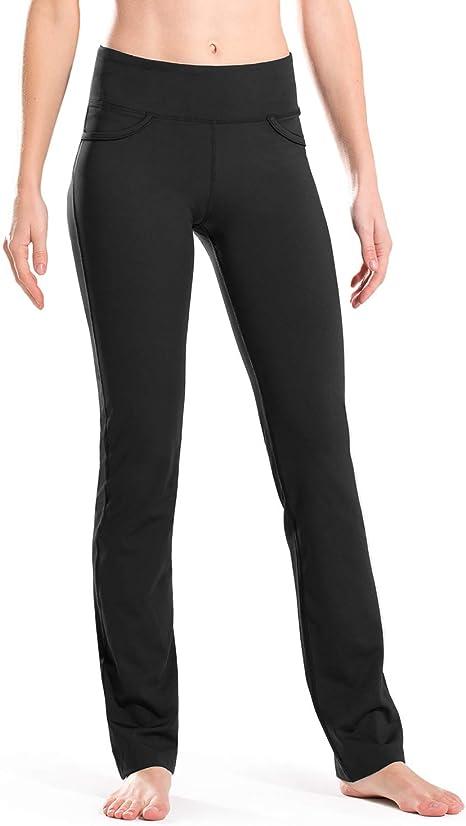 Amazon.com: Safort - Pantalones de yoga con pierna recta y ...