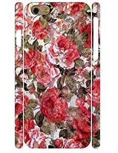 Snap-on Case Designed For Iphone 4/4S Case Cover Beautiful Red Rose Petals