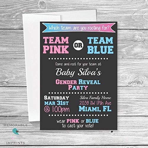 amazon com sports gender reveal invitations team themed gender