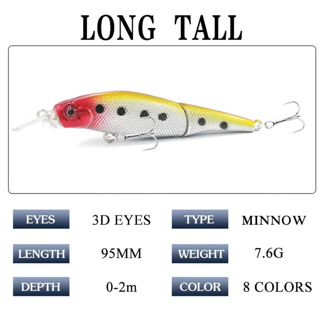 Pinsparkle 1pcs Fishing Lure Plastic Hard Bait 3.7inch Long Minnow Pesca Fishing Tackle Isca Artificial Bait Crankbait Swimb Artificial Bait
