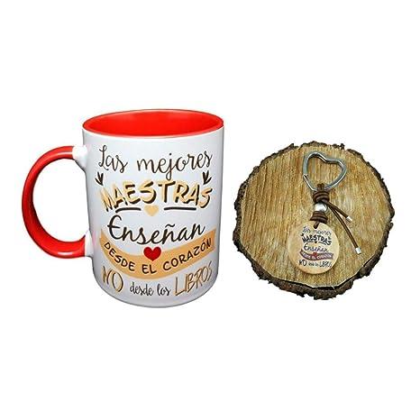 MI Pack Taza Ceramica Y Llavero Madera Frase Las Mejores ...