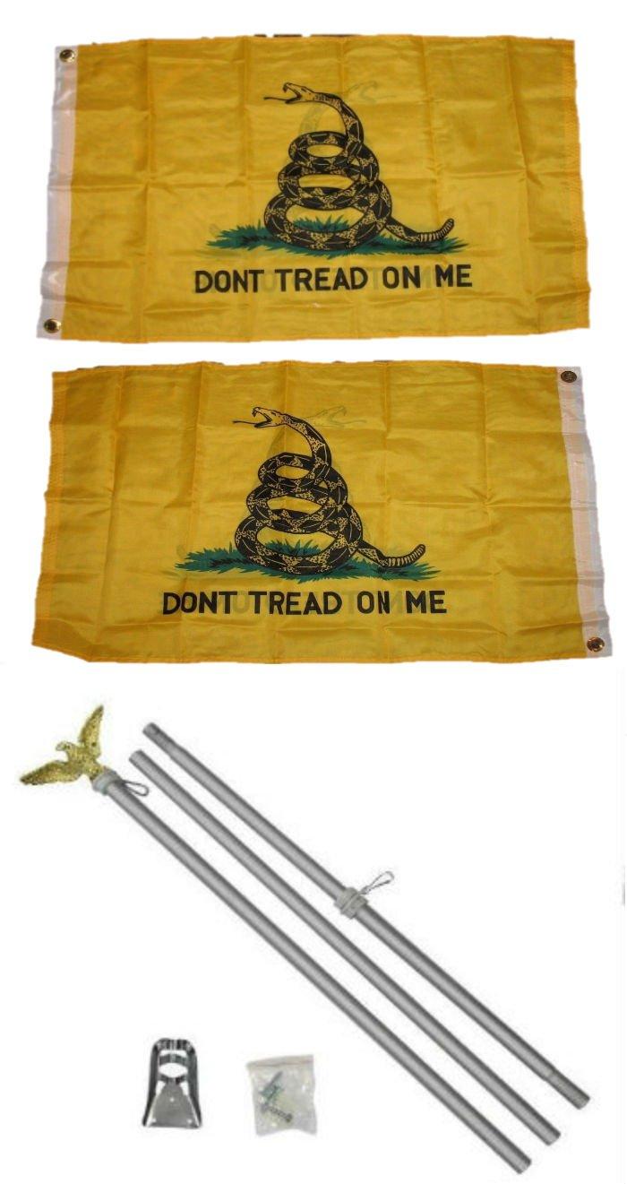 全日本送料無料 2 Double x Snake 3 On 2 ' x3 'ガズデンないTread On Me Yellow Snake Double Sided 2ply国旗アルミニウムポールキットゴールドボールトップ B01NCQALK9, カーヴィンダイレクト:7202da33 --- newtutor.officeporto.com