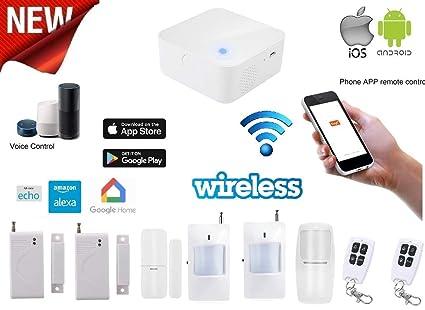Antirrobo alarma casa inalámbrico kit sin cables App Android ...