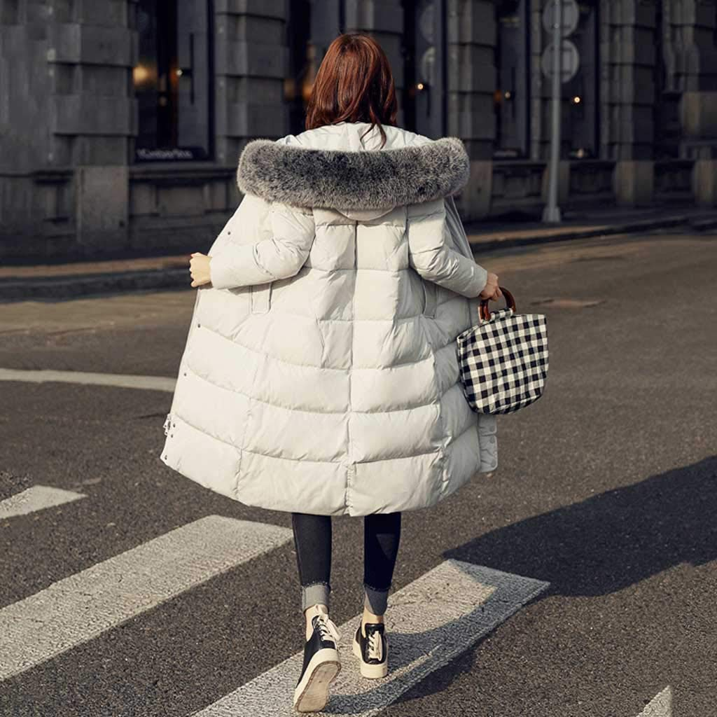 Modern womens winter clothing down jacket Korean version of the long section