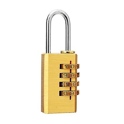 Mini 4 dígitos Número Contraseña Código Candado para candado de combinación reajustable para bolsa de viaje