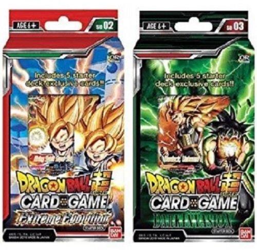 Packs Trading Card Game - Dragon Ball Super Cross Worlds Starter Decks: Extreme Evolution and Dark Invasion