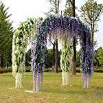 GZQ-12-Pack-Artificial-Flowers-Floral-Fake-Silk-Wisteria-Vine-Wedding-Bouquets-Centerpieces-Arrangements-Birthday-Baby-Shower-Home-Office-Party-Decor-Halloween-White