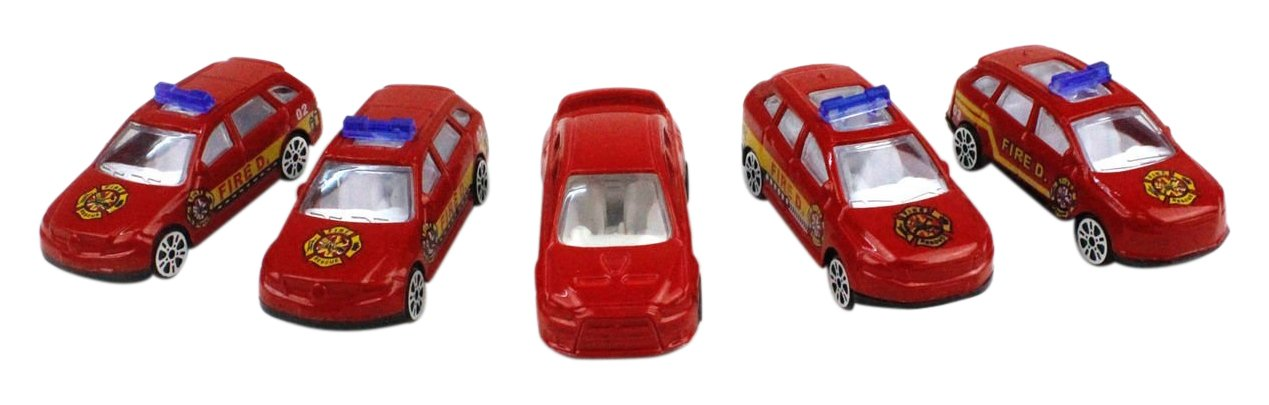 Little Treasures Toy Alloy Fire Car Models Sleek Red