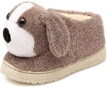 Flip Flop-GQ Cartoon kinderen katoen slippers winter indoor jongens en meisjes kinderen hond bont slippers thuis kinderen
