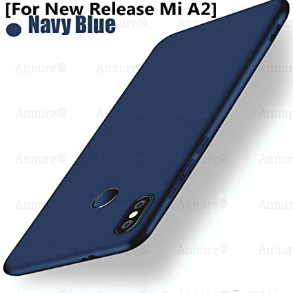 lowest price 2bbb5 94c72 Annure® Slim TPU Back Cover Case for Xiaomi Mi A2 (Blue Matte)
