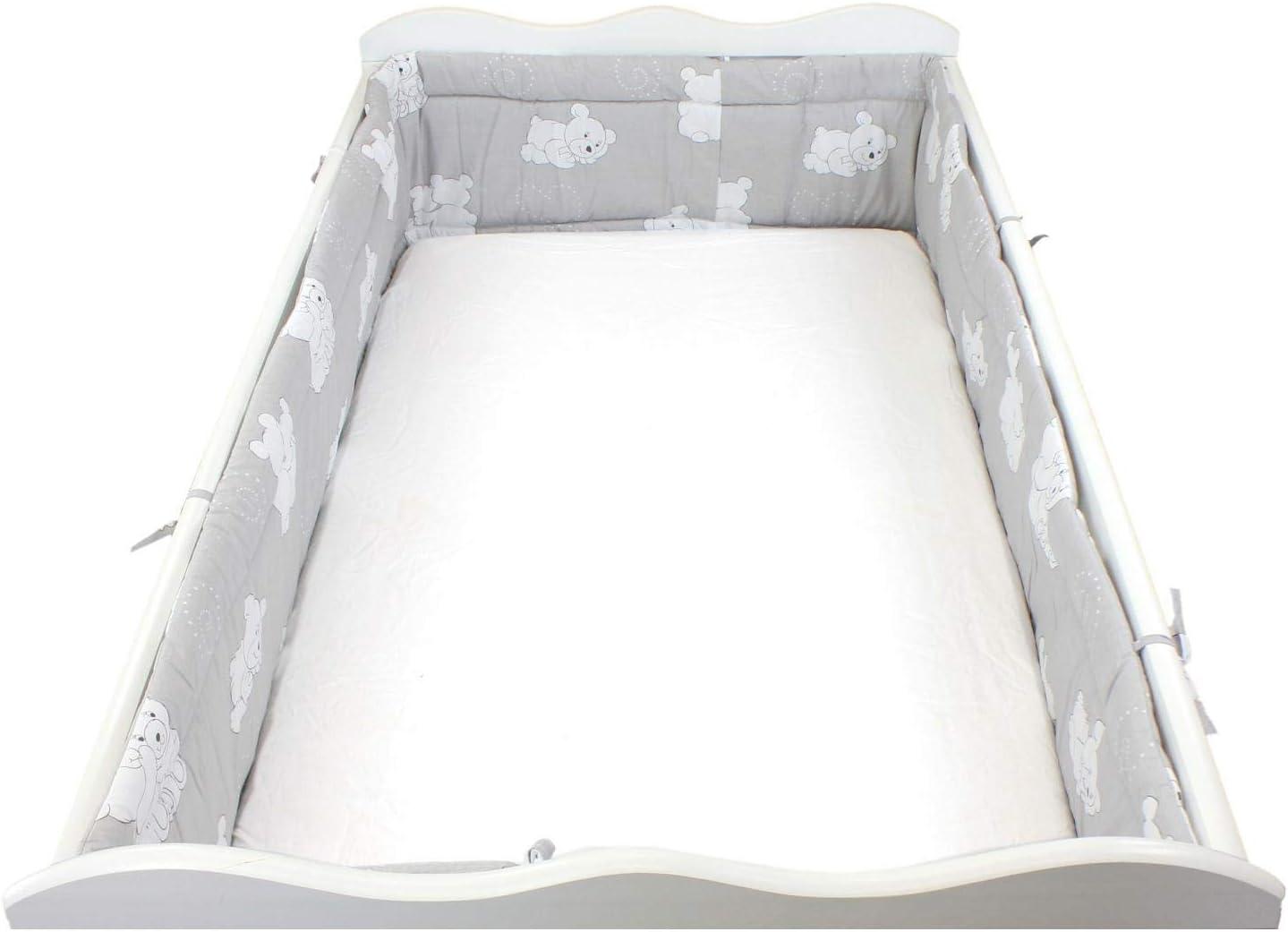 420x30cm TupTam Tour de Lit B/éb/é Long Rembourr/é Protection Blanc Lit 140x70