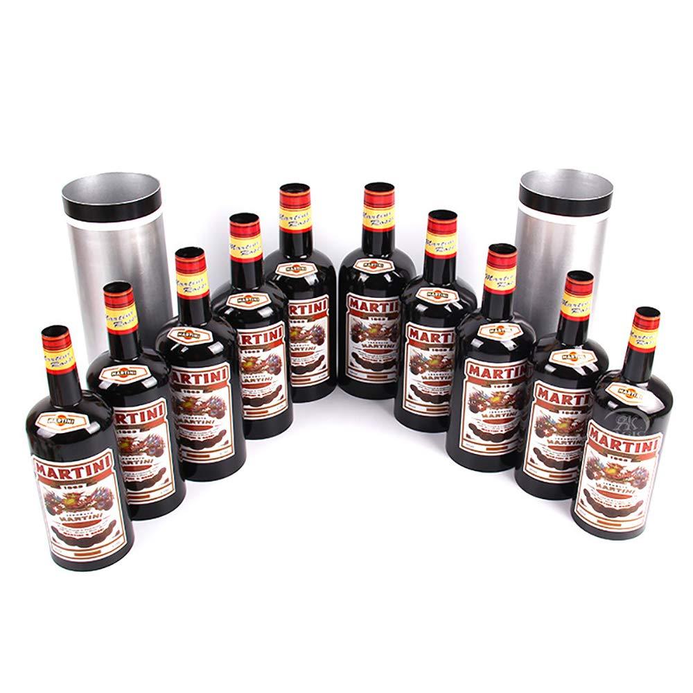 Enjoyer Multiplying Bottles/Moving Increasing Black Bottles Magic Tricks Props Stage Magician Illusion (10 Bottles,Poured Liquid) by Enjoyer (Image #1)