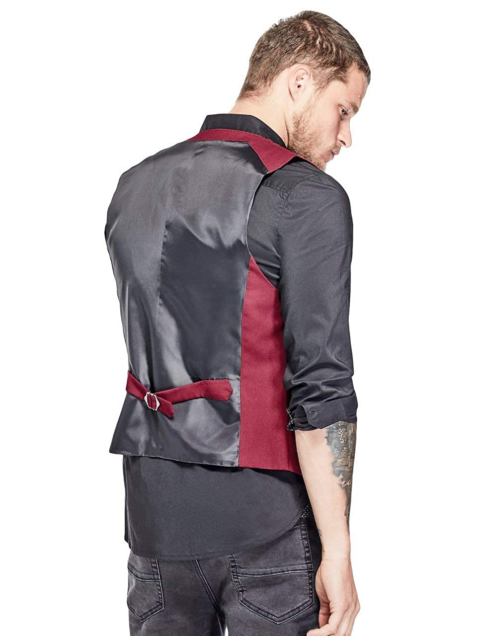G by GUESS Mens Russell Button-Front Vest