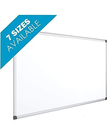 032c11a43335 OFITURIA® Pizarra Magnética Blanca Lacada Con Marco De Aluminio Resistente  Fácil De Borrar En Seco
