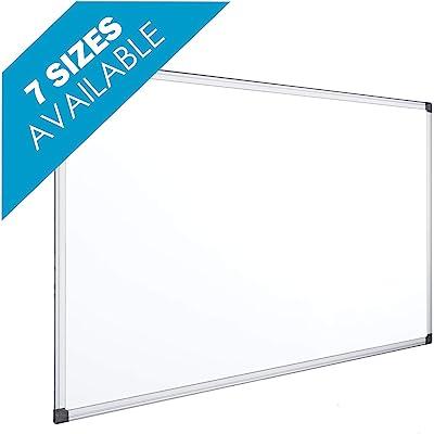OFITURIA® Pizarra Magnética Blanca Lacada Con Marco De Aluminio Resistente Fácil De Borrar En Seco 45x30 cm.