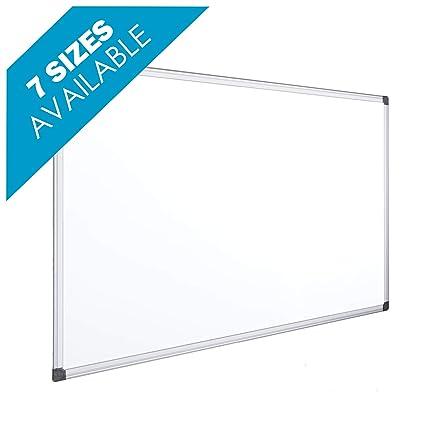 OFITURIA® Pizarra Magnética Blanca Lacada Con Marco De Aluminio Resistente Fácil De Borrar En Seco (600X450 MM)