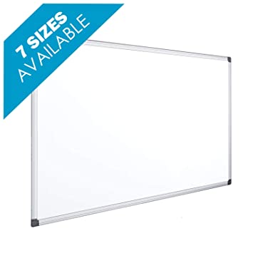 OFITURIA® Pizarra Magnética Blanca Lacada Con Marco De Aluminio Resistente Fácil De Borrar En Seco (600X450 MM)