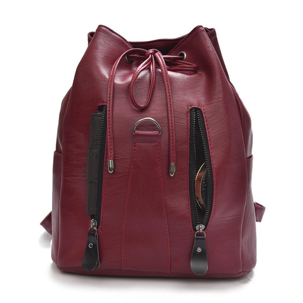 Mochila de cuero de moda mujer Mochila de gran capacidad mochila mujer ☚Longra: Amazon.es: Alimentación y bebidas