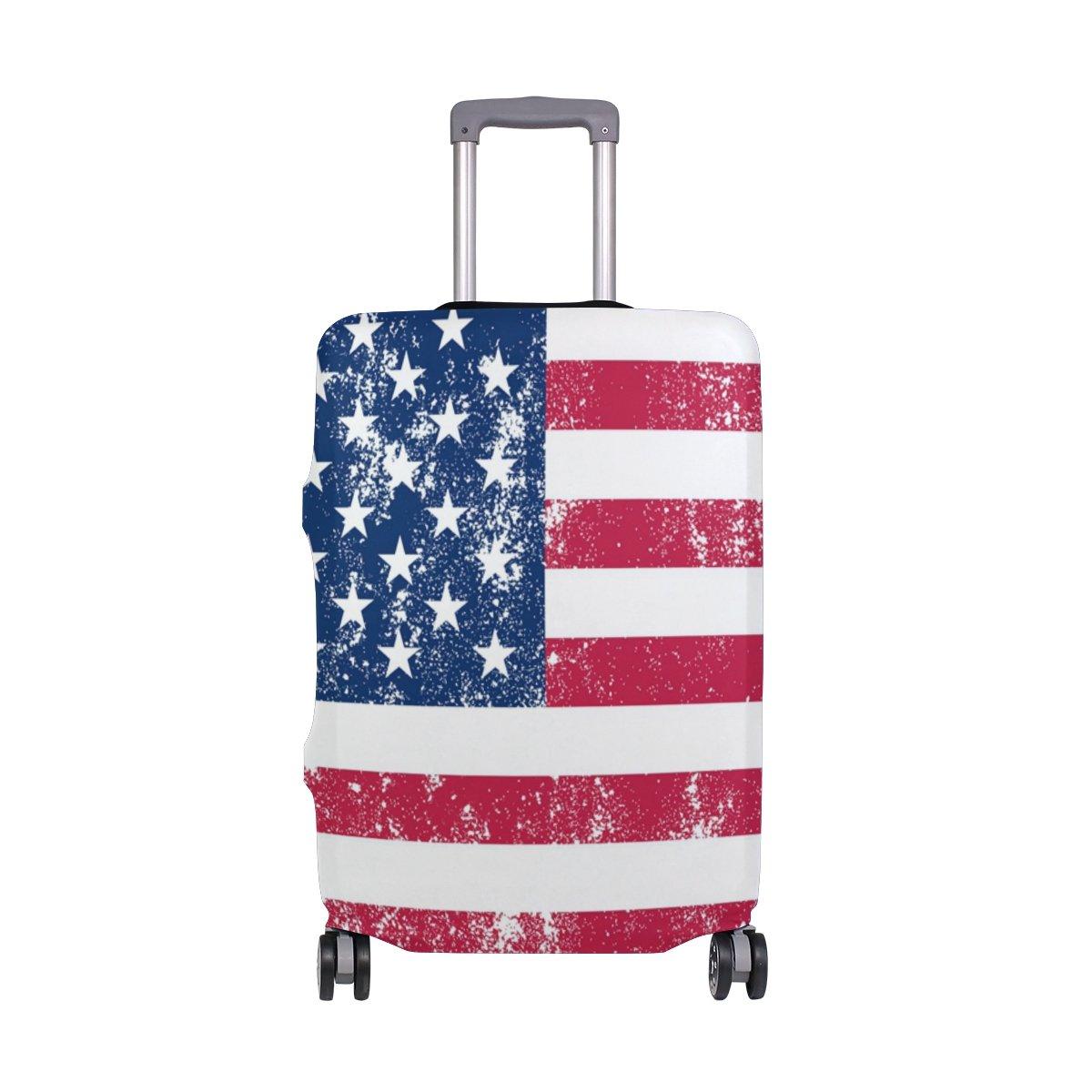 ALAZA USA Drapeau américain vintage couverture bagages Fits 18-20 pouces Valise Spandex Voyage Protector My Daily