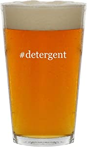 #detergent - 16oz Hashtag Clear Glass Beer Pint Glass