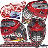 DETROIT RED WINGS 2014 Team Signed FULL-SIZE GOALIE MASK w/COA - HOWARD - Autographed NHL Helmets and Masks