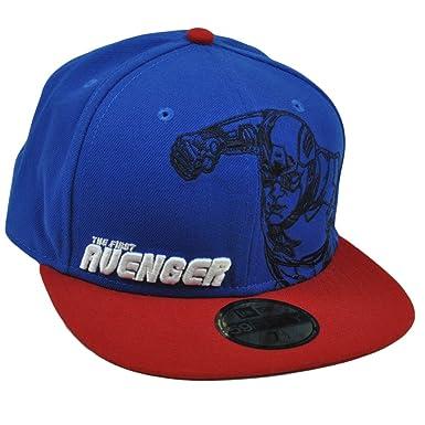 New Era Avengers Outline Captain America 59fifty Hat (7 1 8) at ... 8c3fe2dcd2b