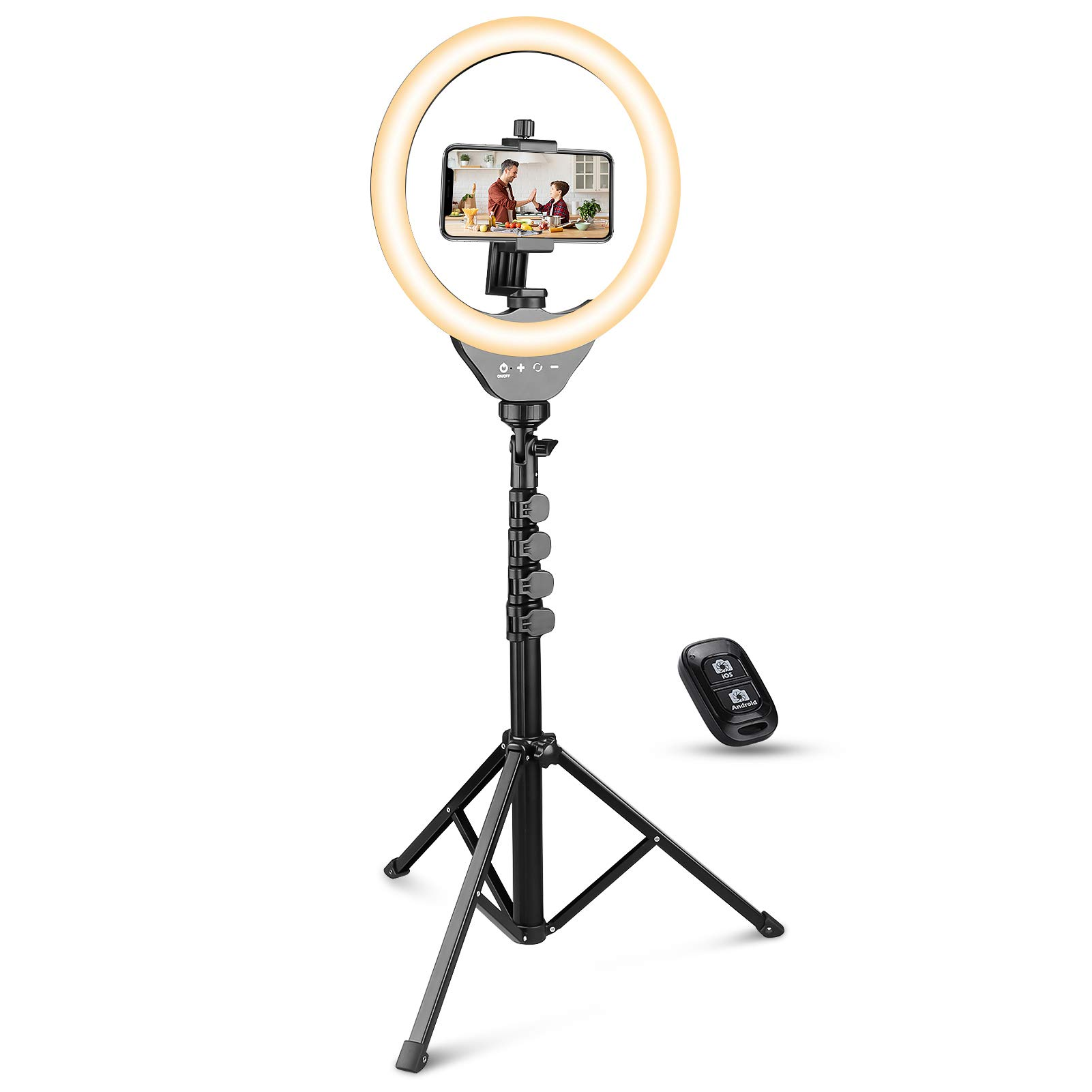 UBeesize 10'' Ring Light with Tripod, Selfie Ring Light with 62'' Tripod Stand, Light Ring for Video Recording & Live Streaming(YouTube, Instagram, Facebook), Compatible with Phones and Cameras
