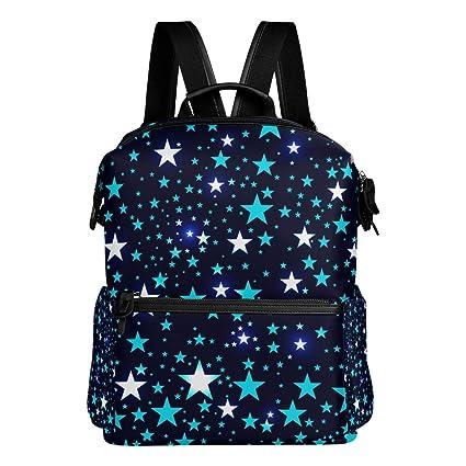 TIZORAX - Mochila Escolar con diseño de Estrellas, Ideal para el Colegio o la Escuela