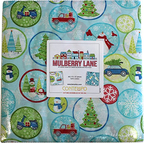 (Cherry Guidry Mulberry Lane 10X10 Pack 42 10-inch Squares Layer Cake Benartex)