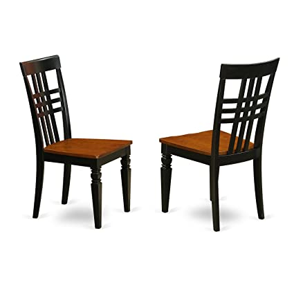 Amazon Com East West Furniture Lgc Bch W Logan Dining Chair With