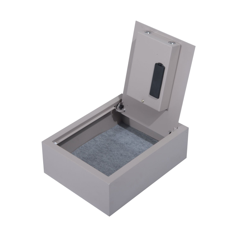 Drawer Security Hidden Safe Box Portable Jewelry Gun Cash Digital Electronic New Gray