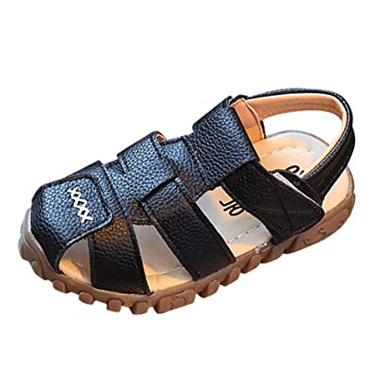8fc63bd6d3b7e Amazon.com: Cloudro Kids Closed-Toe Sandals Little Boys Girls Sport ...