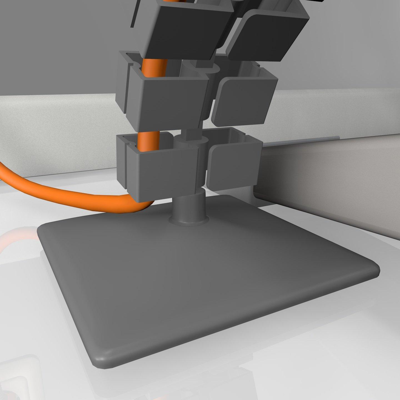 Kabelführung, eckig, flexibel, für Schreibtisch, inkl. Fußplatte ...